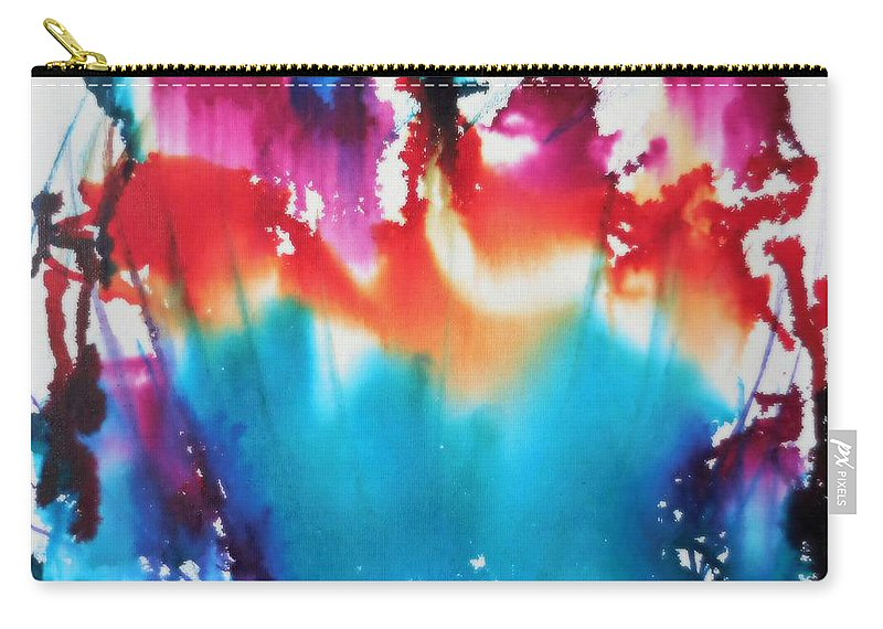 Abstract Carry-all Pouch featuring the mixed media Abstract Flower by Tember Smith