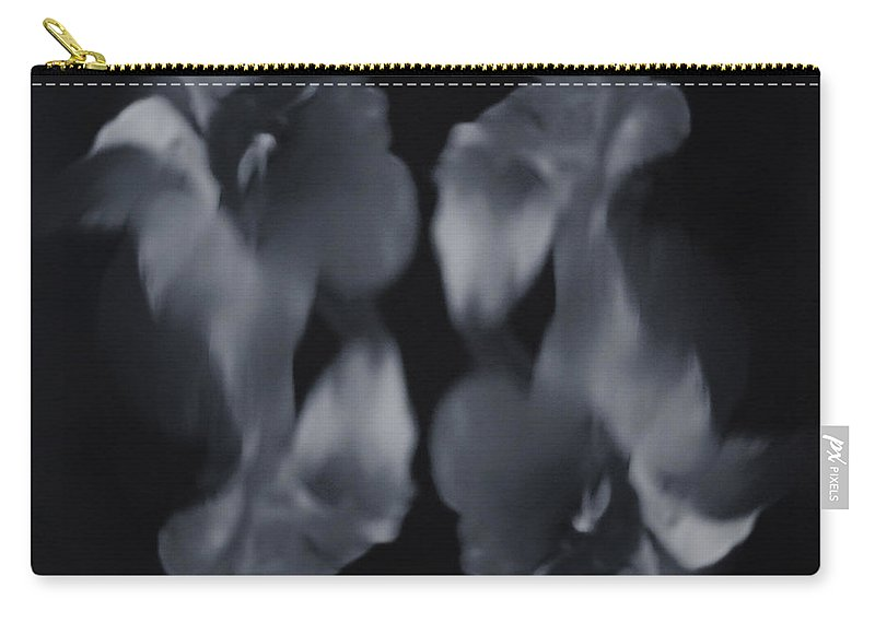 Black And White Carry-all Pouch featuring the photograph Abstract Flowers by Scott Wyatt