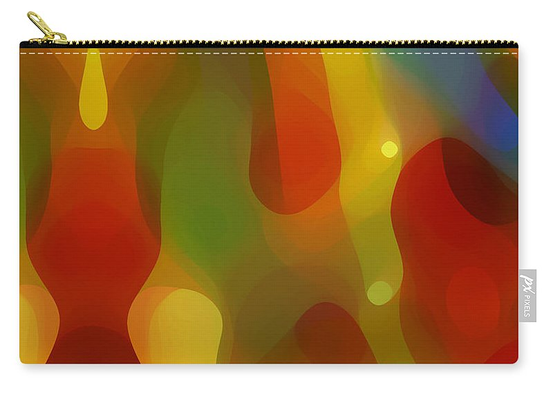 Abstract Art Carry-all Pouch featuring the painting Abstract Flowing Light by Amy Vangsgard