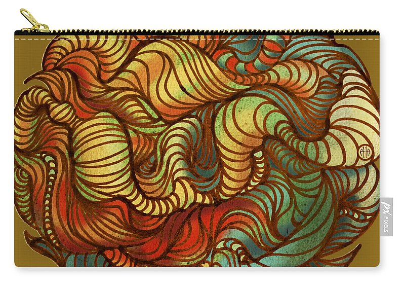 Abstract Carry-all Pouch featuring the painting Abstract Forest Ball by Irina Effa