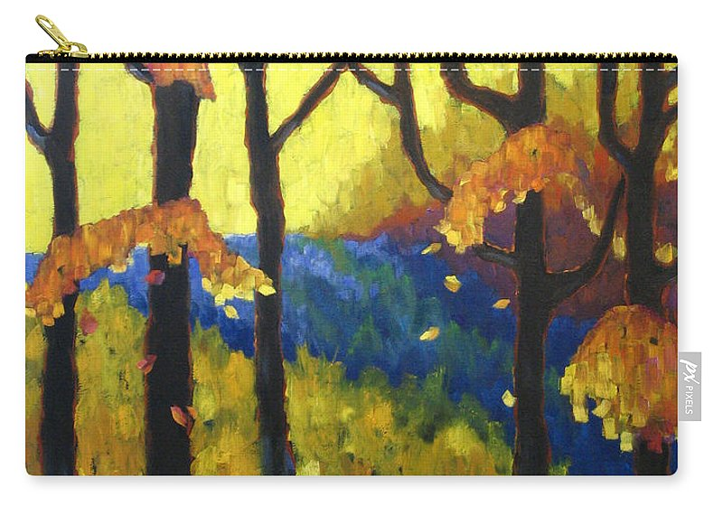 Art Carry-all Pouch featuring the painting Abstract Forest by Richard T Pranke