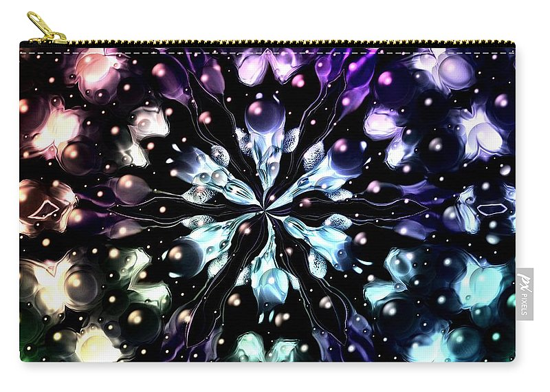 Carry-all Pouch featuring the digital art Abstract Fractal 623162 by Belinda Cox