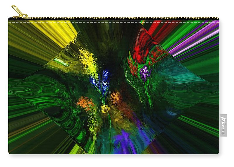 Digital Painting Carry-all Pouch featuring the digital art Abstract Garden by David Lane