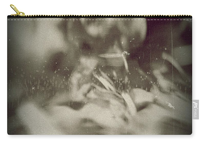 Abstract Carry-all Pouch featuring the photograph Abstract Glass by Scott Wyatt