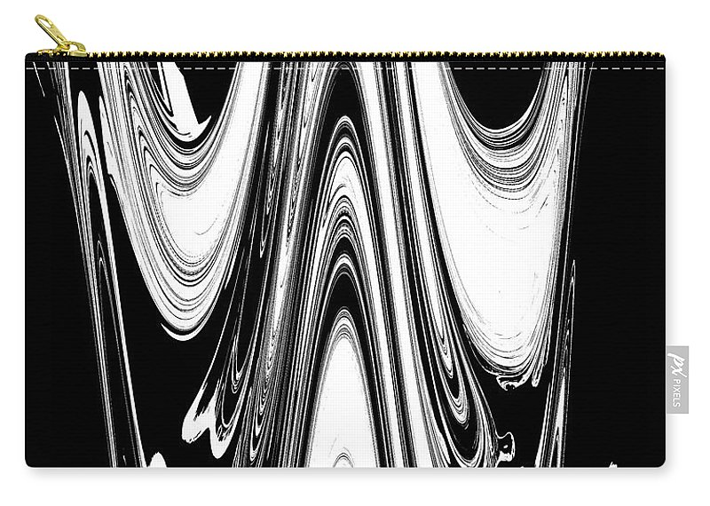 Abstract Carry-all Pouch featuring the digital art Abstract IIi Death Mask by DigiArt Diaries by Vicky B Fuller