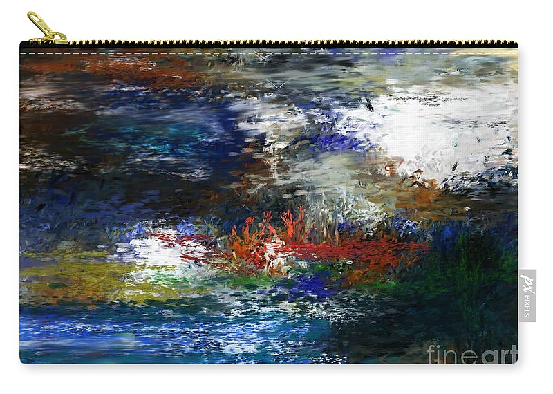 Abstract Carry-all Pouch featuring the digital art Abstract Impression 5-9-09 by David Lane