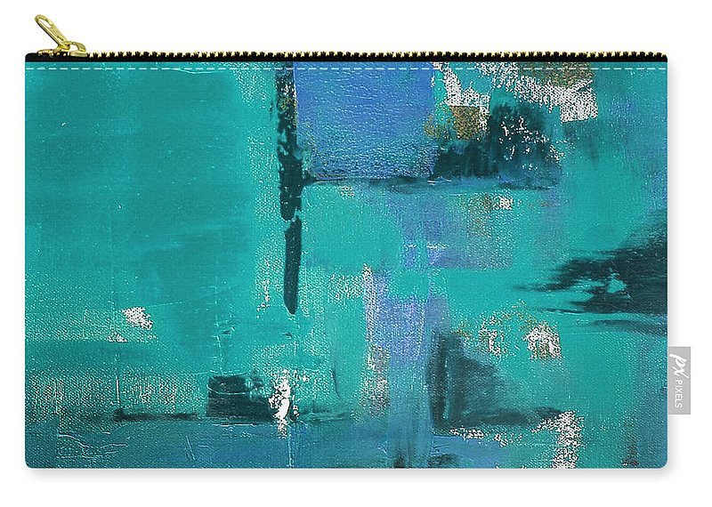 Abstract Carry-all Pouch featuring the painting Abstract In Blue by Gina De Gorna
