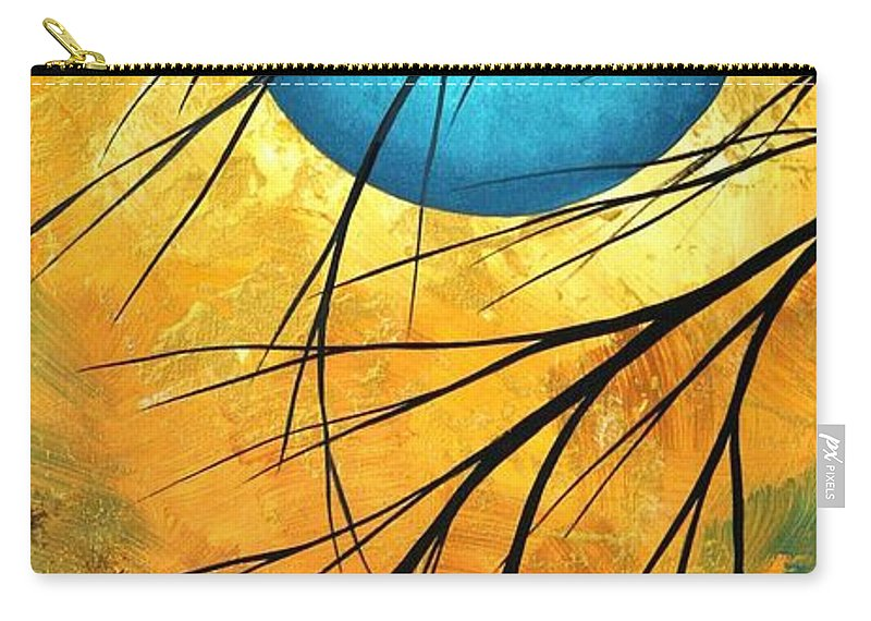 Abstract Carry-all Pouch featuring the painting Abstract Landscape Art Passing Beauty 1 Of 5 by Megan Duncanson