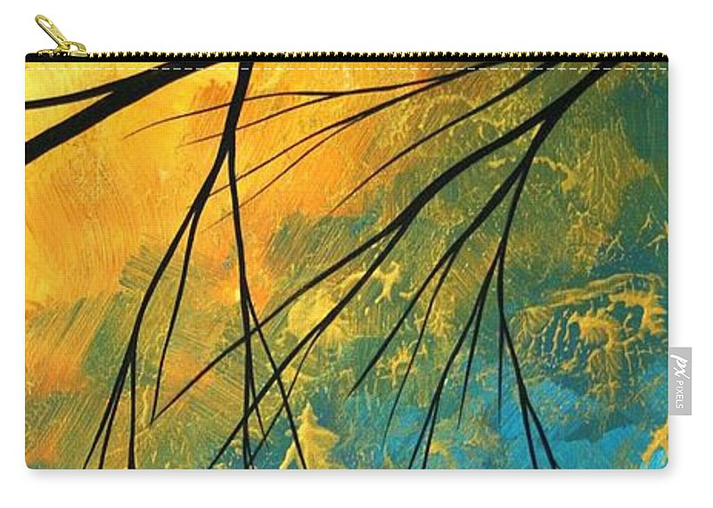 Abstract Carry-all Pouch featuring the painting Abstract Landscape Art Passing Beauty 2 Of 5 by Megan Duncanson