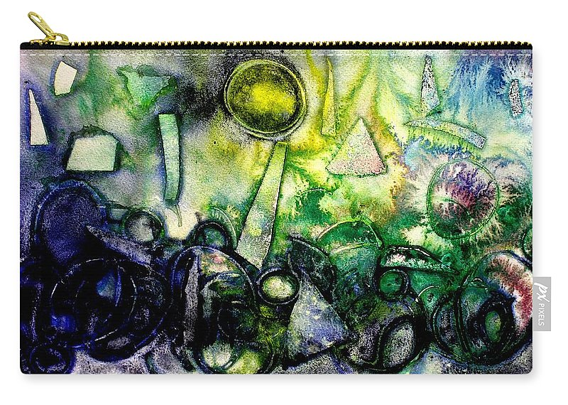Abstract Carry-all Pouch featuring the mixed media Abstract Landscape IIi by John Nolan