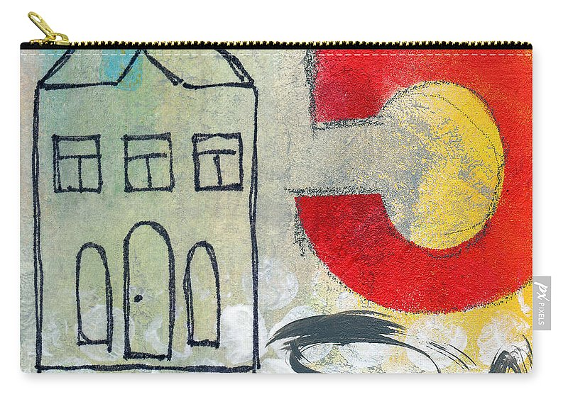 House Carry-all Pouch featuring the painting Abstract Landscape by Linda Woods