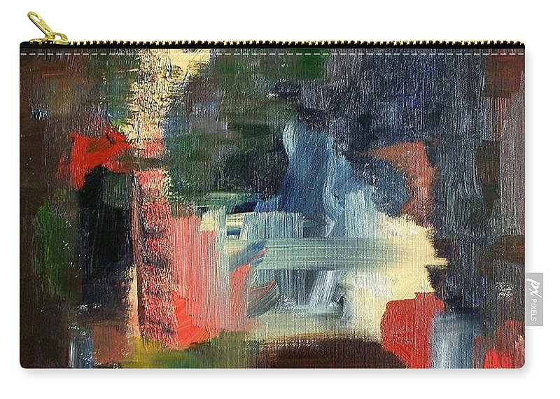 Art Carry-all Pouch featuring the painting Abstract Landscape by RB McGrath