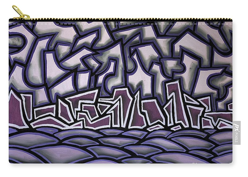 Landscape Carry-all Pouch featuring the painting Abstract Landscape by Thomas Valentine