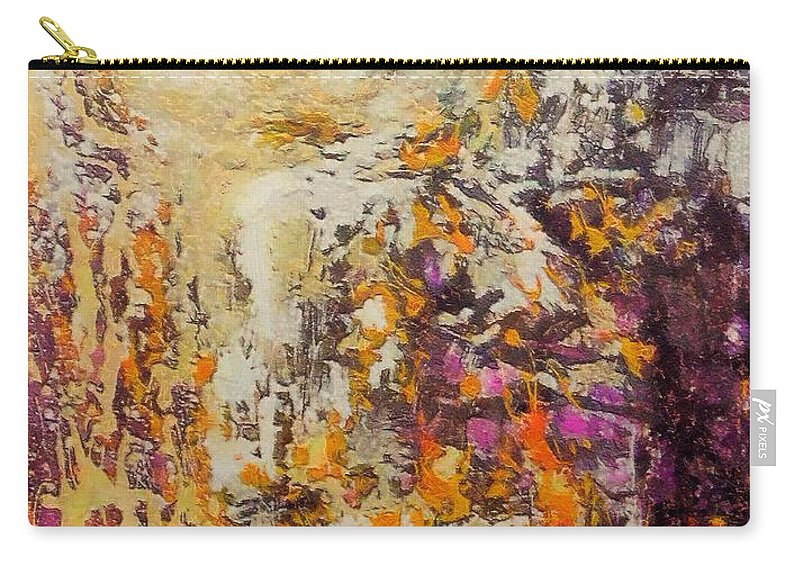 Abstract Landscape Carry-all Pouch featuring the mixed media abstract landscape VI by Dragica Micki Fortuna