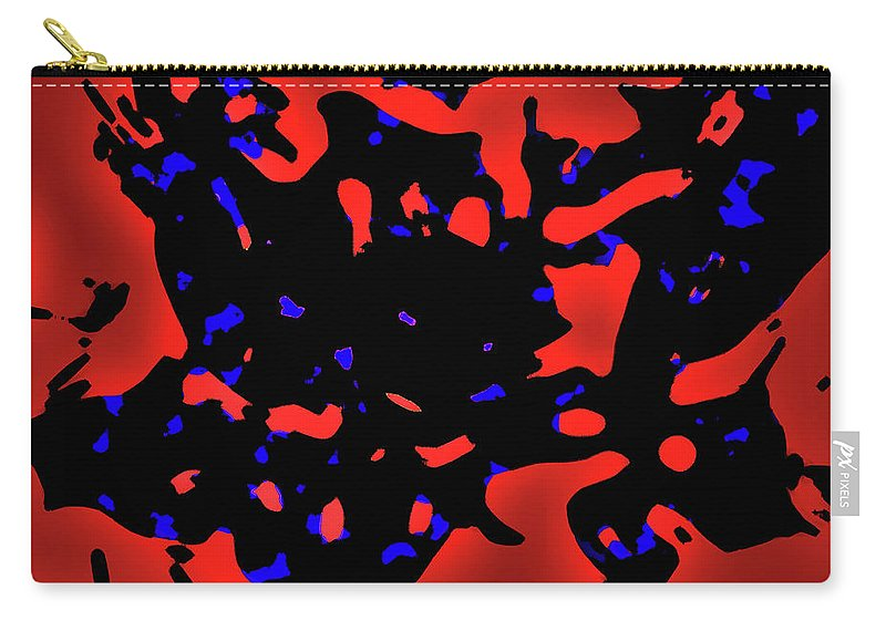 Abstract Carry-all Pouch featuring the photograph Abstract Lemon Tree Leaves by Gina O'Brien