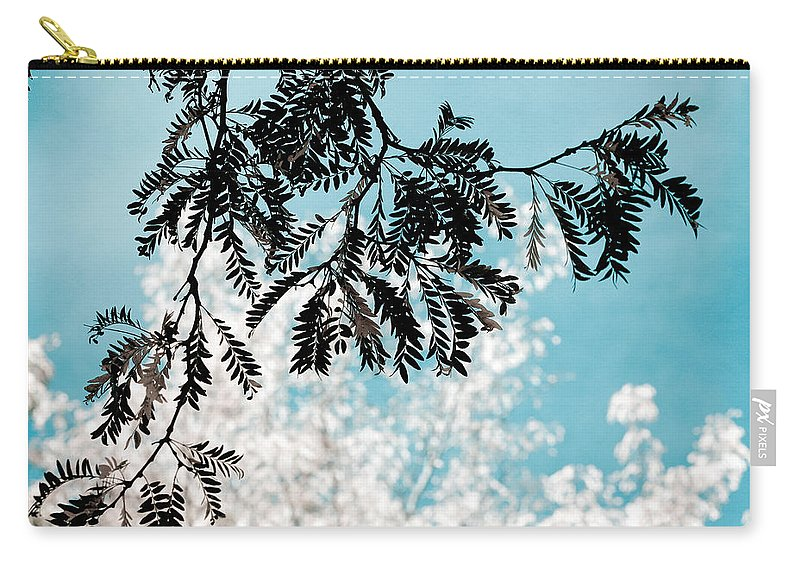Tree Carry-all Pouch featuring the photograph Abstract Locust by Marilyn Hunt