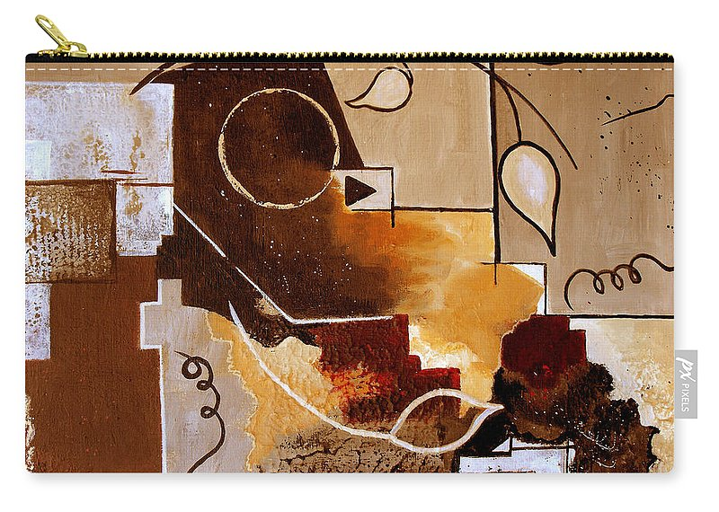 Abstract Carry-all Pouch featuring the painting Abstract Nature Wall by Ruth Palmer