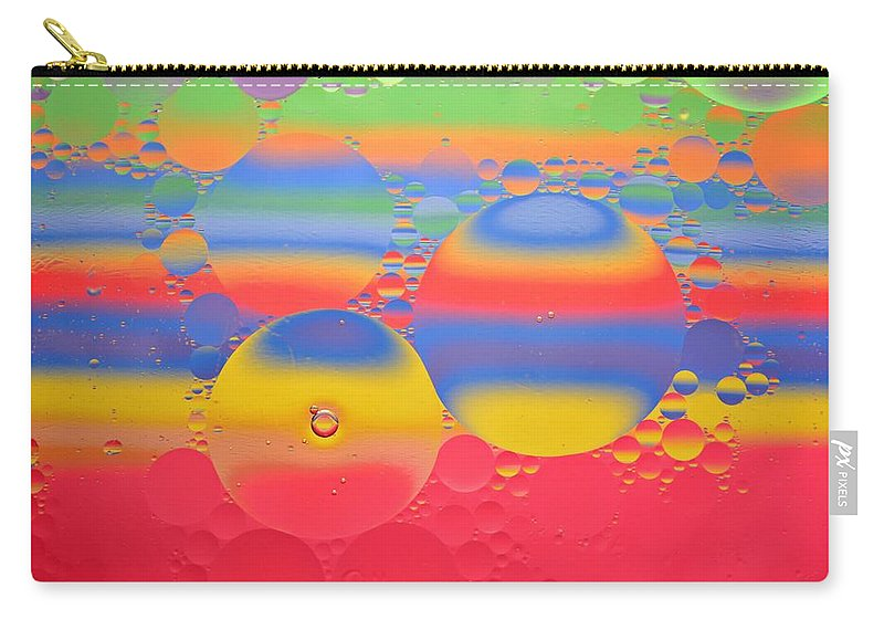 Abstract Carry-all Pouch featuring the photograph Abstract Oil And Water 7 by Dennis Nelson