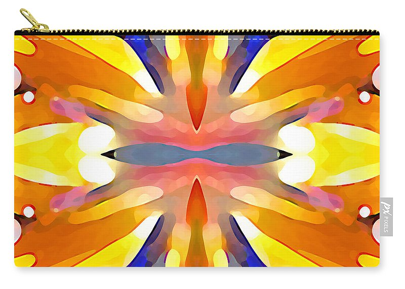 Abstract Art Carry-all Pouch featuring the painting Abstract Paradise by Amy Vangsgard