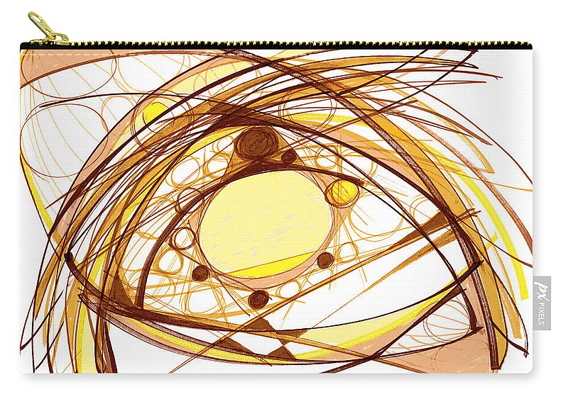 Abstract Art Carry-all Pouch featuring the drawing Abstract Pen Drawing Eleven by Lynne Taetzsch