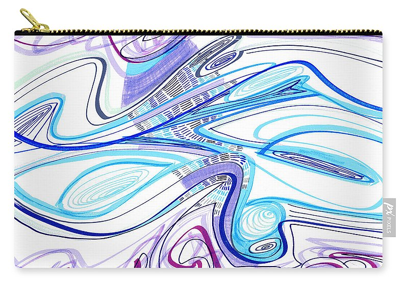 Abstract Carry-all Pouch featuring the drawing Abstract Pen Drawing Forty-two by Lynne Taetzsch