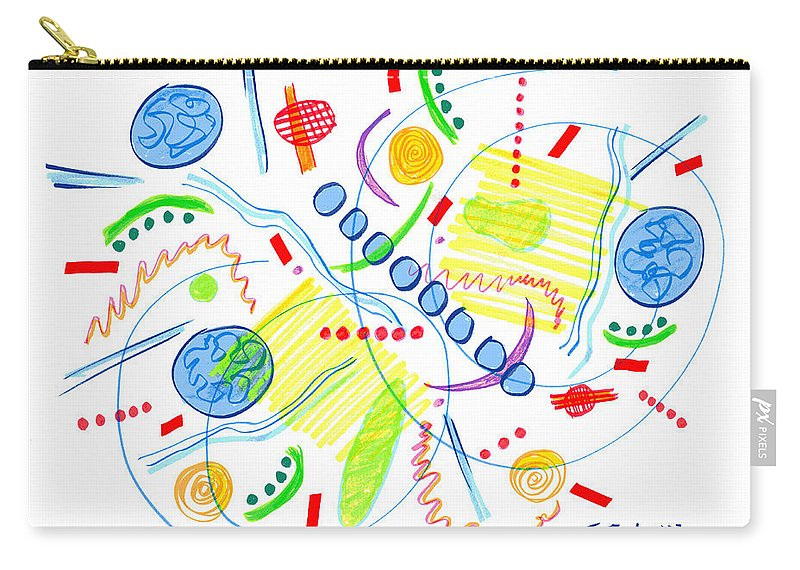 Abstract Carry-all Pouch featuring the drawing Abstract Pen Drawing Twenty-seven by Lynne Taetzsch
