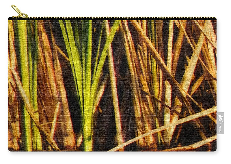 Abstract Carry-all Pouch featuring the photograph Abstract Reeds Triptych Top by Steven Sparks