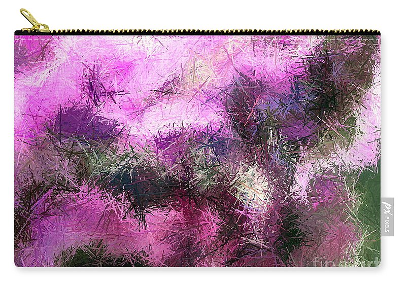 Abstract Rhythm Carry-all Pouch featuring the painting Abstract Rhythm by Dawn Hough Sebaugh