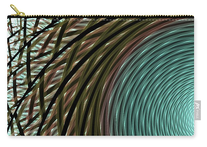 Apophysis Carry-all Pouch featuring the digital art Abstract Ring by Deborah Benoit