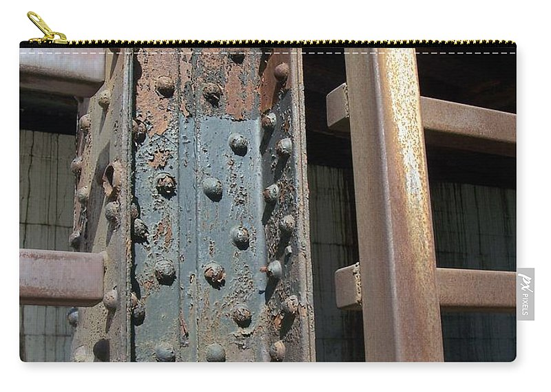 Urban Carry-all Pouch featuring the photograph Abstract Rust 1 by Anita Burgermeister
