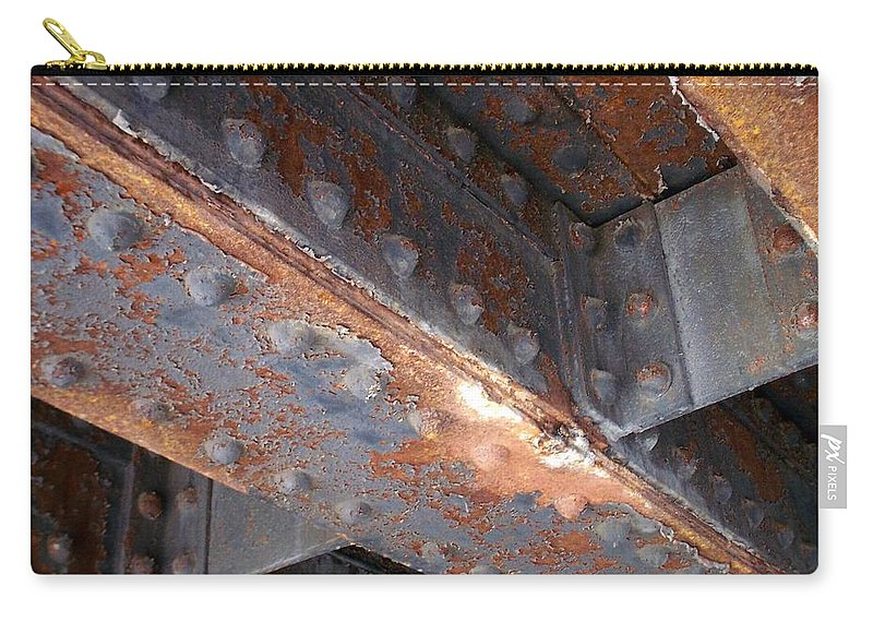 Urban Carry-all Pouch featuring the photograph Abstract Rust 3 by Anita Burgermeister