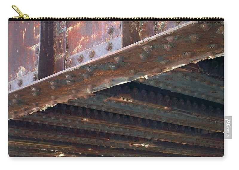 Urban Carry-all Pouch featuring the photograph Abstract Rust 4 by Anita Burgermeister