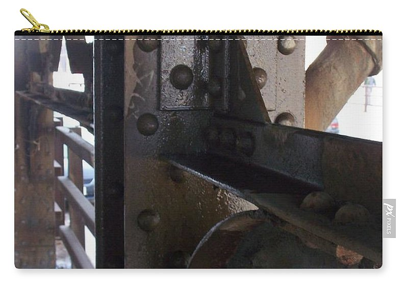 Industrial Carry-all Pouch featuring the photograph Abstract Rust 5 by Anita Burgermeister