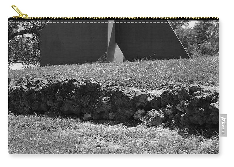 Black And White Carry-all Pouch featuring the photograph Abstract Sculpture by Rob Hans