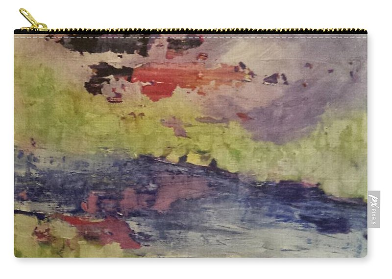 Abstract Carry-all Pouch featuring the painting Abstract Series Dreaming by Sherry Harradence