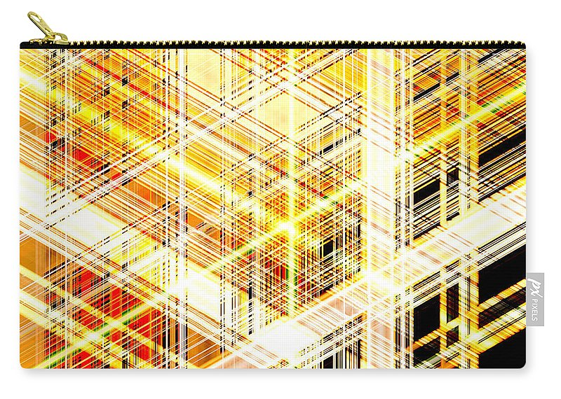 Abstract Carry-all Pouch featuring the digital art Abstract Shining Lines by Long Shot