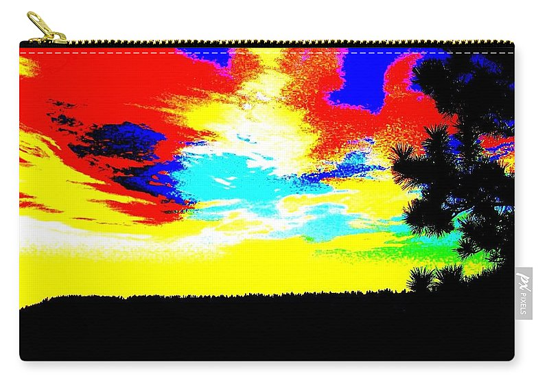Abstract Carry-all Pouch featuring the digital art Abstract Sky by Will Borden