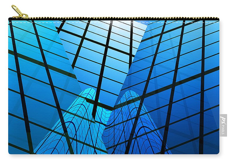 Abstract Carry-all Pouch featuring the photograph Abstract Skyscrapers by Setsiri Silapasuwanchai