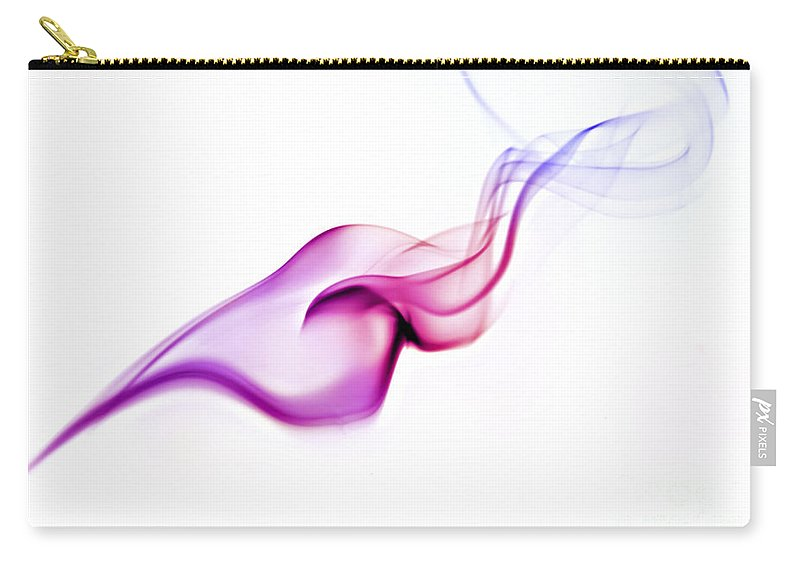 Purple Carry-all Pouch featuring the photograph Abstract Smoke by Yedidya yos mizrachi