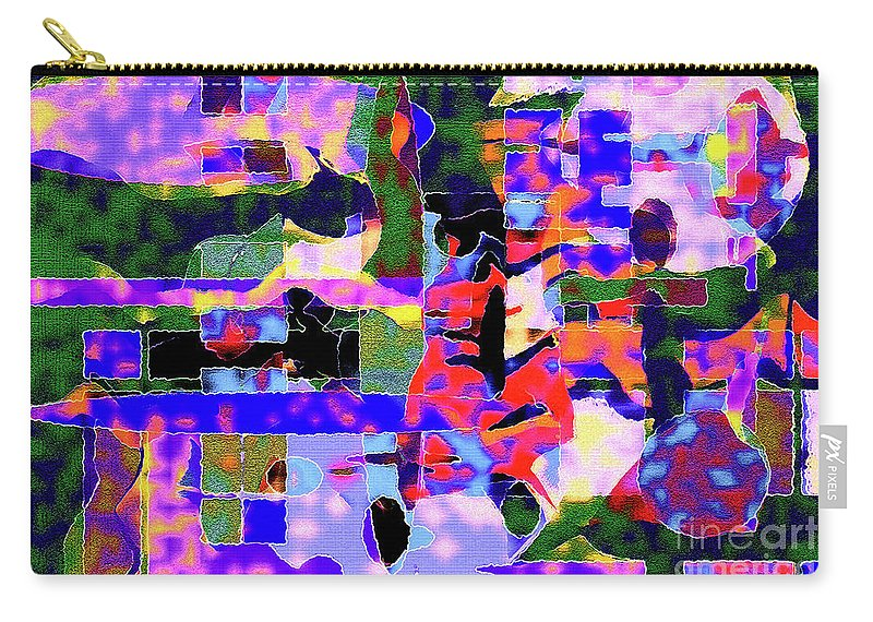 Green Carry-all Pouch featuring the photograph Abstract Sports Montage by Andee Design