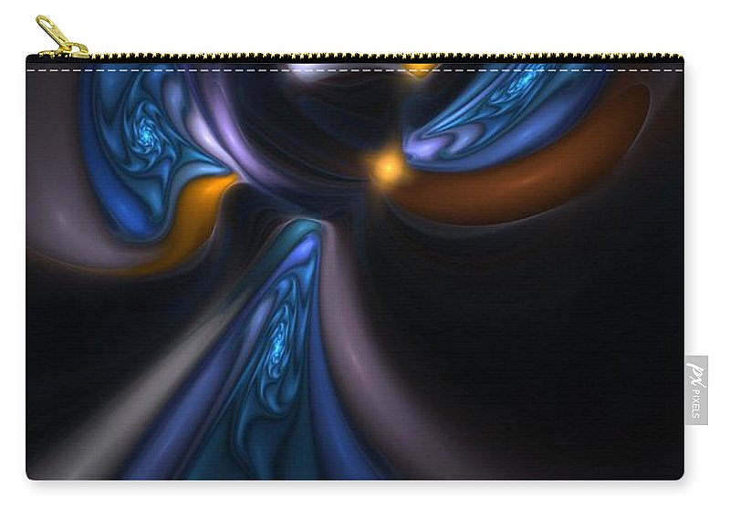 Digital Painting Carry-all Pouch featuring the digital art Abstract Stained Glass Angel by David Lane