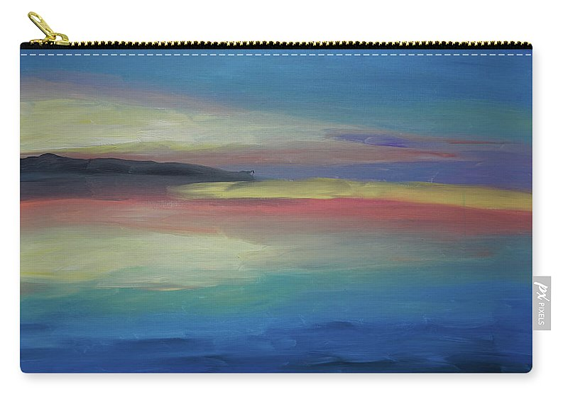 Abstract Carry-all Pouch featuring the painting Abstract Sunset by Katherine Klauber