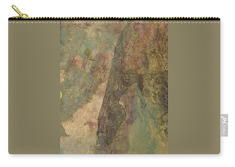 Abstract Carry-all Pouch featuring the mixed media Abstract Three by Pat Snook