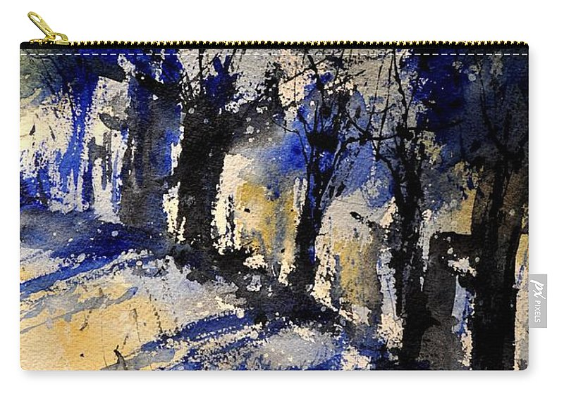 Abstract Carry-all Pouch featuring the painting Abstract Trees by Pol Ledent