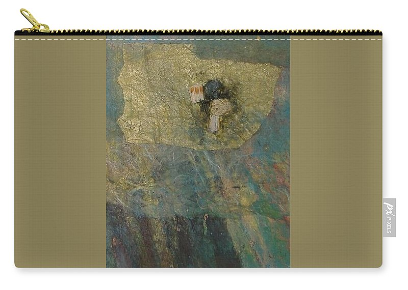 Abstract Carry-all Pouch featuring the mixed media Abstract Two by Pat Snook