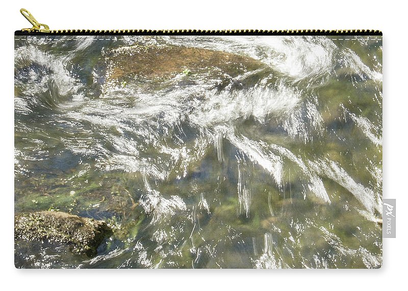 Water Carry-all Pouch featuring the photograph Abstract Water Art Vi by Lori Lynn Sadelack