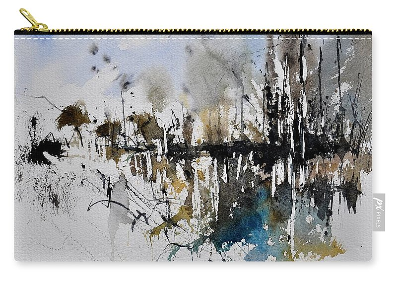 Abstract Carry-all Pouch featuring the painting Abstract Watercolor 012130 by Pol Ledent