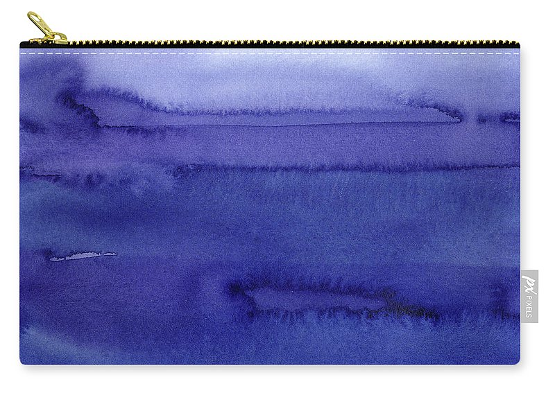 Purple Carry-all Pouch featuring the painting Abstract Watercolor Pattern by Olga Shvartsur