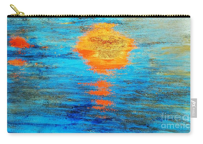 Abstract Carry-all Pouch featuring the photograph Abstract Watery Sunset by Sharon Eng
