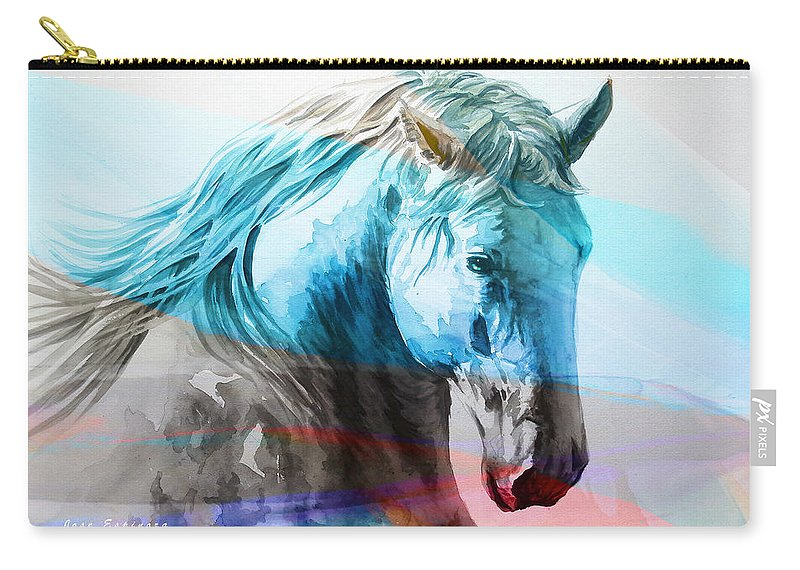 Cavallo Carry-all Pouch featuring the painting S . I . R . I . O by J - O  N  E